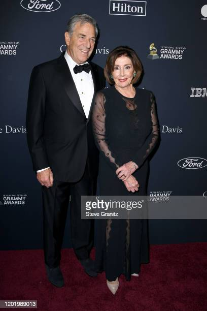 Paul Pelosi and Nancy Pelosi attend the PreGRAMMY Gala and GRAMMY Salute to Industry Icons Honoring Sean Diddy Combs at The Beverly Hilton Hotel on...