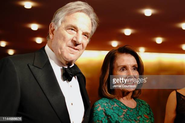 Paul Pelosi and Nancy Pelosi attend the TIME 100 Gala 2019 Cocktails at Jazz at Lincoln Center on April 23 2019 in New York City