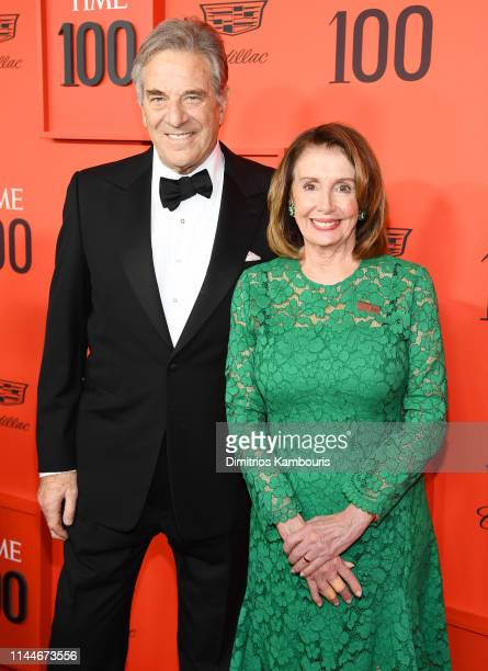 Paul Pelosi and Nancy Pelosi attend the TIME 100 Gala Red Carpet at Jazz at Lincoln Center on April 23 2019 in New York City
