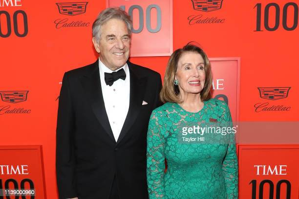 Paul Pelosi and Speaker of the House of Representatives Nancy D'Alesandro Pelosi attend the 2019 Time 100 Gala at Frederick P Rose Hall Jazz at...