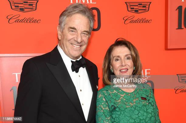 Paul Pelosi and Speaker of the United States House of Representatives Nancy Pelosi attend the 2019 Time 100 Gala at Frederick P Rose Hall Jazz at...
