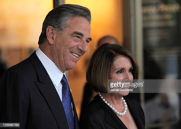 Paul Pelosi and US House Democratic leader Nancy Pelosi attend Tony Bennett's 85th Birthday Gala Benefit for Exploring the Arts at The Metropolitan...