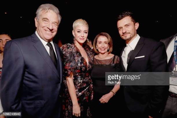 Paul Pelosi Katy Perry Nancy Pelosi and Orlando Bloom attend MusiCares Person of the Year honoring Dolly Parton at Los Angeles Convention Center on...