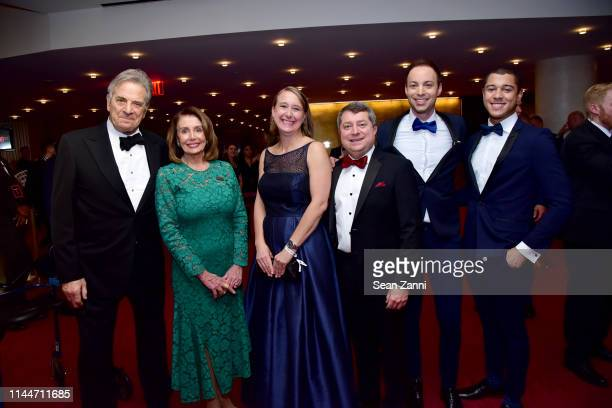 Paul Pelosi Nancy Pelosi Alison Ainsworth Edward Felsenthal Dan Macsai and Ronnie Hutchinson attend the Time 100 Gala 2019 at Jazz at Lincoln Center...