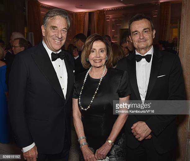 Paul Pelosi Nancy Pelosi and French ambassador to the US Gerard Araud attend the Bloomberg Vanity Fair cocktail reception following the 2015 WHCA...