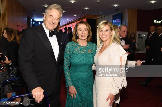 Paul Pelosi Nancy Pelosi and Gretchen Carlson attend the TIME 100 Gala 2019 Cocktails at Jazz at Lincoln Center on April 23 2019 in New York City