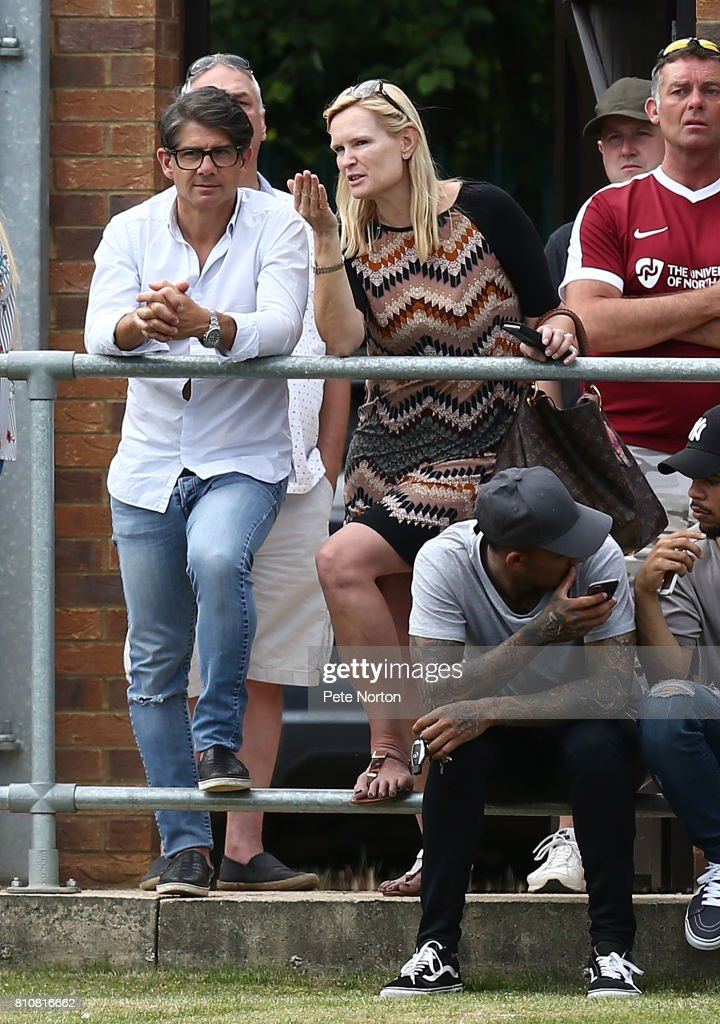 Paul Peschisolido looks on during the Pre-Season Friendly Match between Sileby Rangers and Northampton Town at Fernie Fields on July 8, 2017 in Northampton, England.