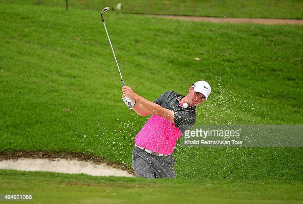 Paul Peterson of USA plays a shot during round two of the CIMB Classic at Kuala Lumpur Golf & Country Club on October 30, 2015 in Kuala Lumpur,...