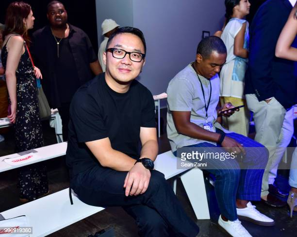 Paul Pham attends the Todd Snyder S/S 2019 Collection during NYFW Men's July 2018 at Industria Studios on July 11 2018 in New York City