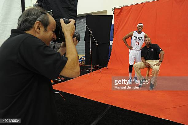 Paul Pierce and Doc Rivers of the Los Angeles Clippers pose for a portrait during media day at the Los Angeles Clippers Training Center on September...