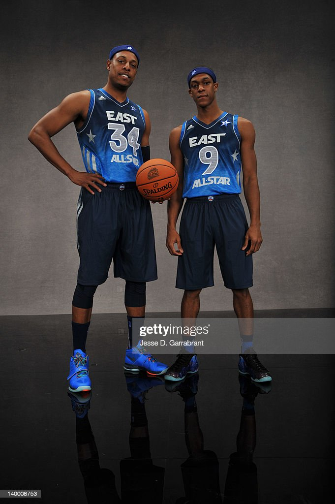 f4da51cabd2 Paul Pierce and Rajon Rondo of the Eastern Conference All-Stars ...