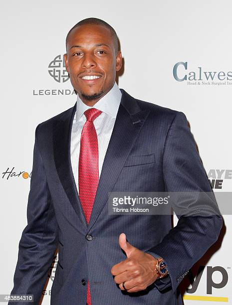 Paul Pierce attends the 15th annual Harold and Carole Pump Foundation gala at the Hyatt Regency Century Plaza on August 7 2015 in Los Angeles...