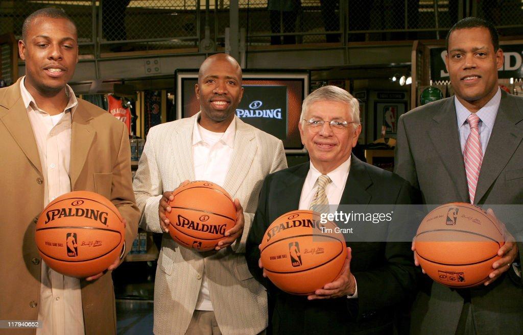 NBA Commissioner David Stern Unveils New Ball for 2006-'07 Season - June 28,