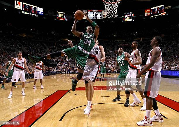 Paul Pierce of the Boston Celtics drives against of the Portland Trail Blazers on January 27 2011 at the Rose Garden in Portland Oregon NOTE TO USER...