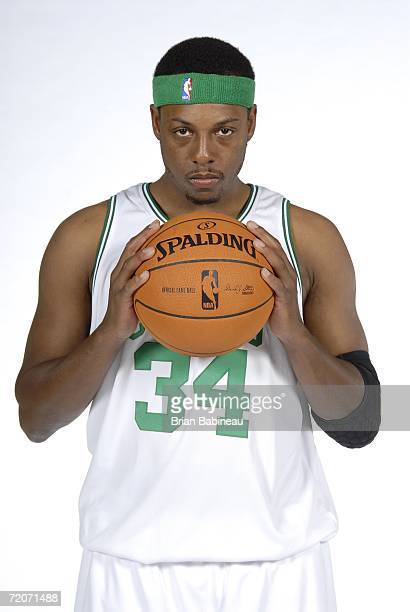 Paul Pierce of the Boston Celtics poses during media day at the Celtics practice facility October 2 2006 in Waltham Massachusetts NOTE TO USER User...