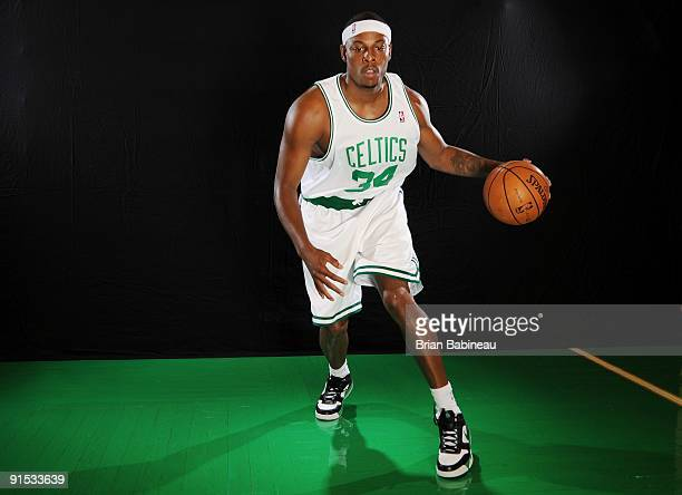 Paul Pierce of the Boston Celtics poses for a portrait during the 2009 NBA Media Day on September 28 2009 at Healthpoint in Waltham Massachusetts...