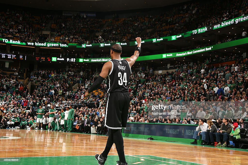 Paul Pierce #34 of the Brooklyn Nets stands on the court after the game against the Boston Celtics during a game at TD Garden in Boston.