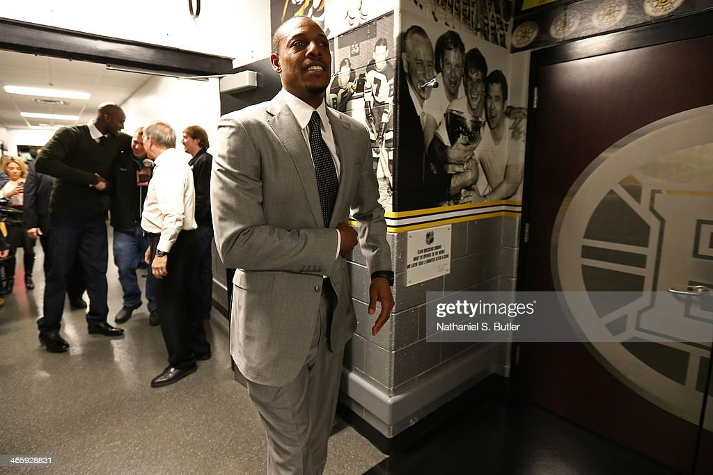 Paul Pierce #34 of the Brooklyn Nets walks through the halllway after the game against the Boston Celtics during a game at TD Garden in Boston.