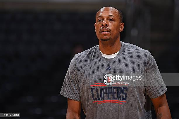 Paul Pierce of the LA Clippers warms up before the game against the Detroit Pistons on November 7 2016 at the STAPLES Center in Los Angeles...
