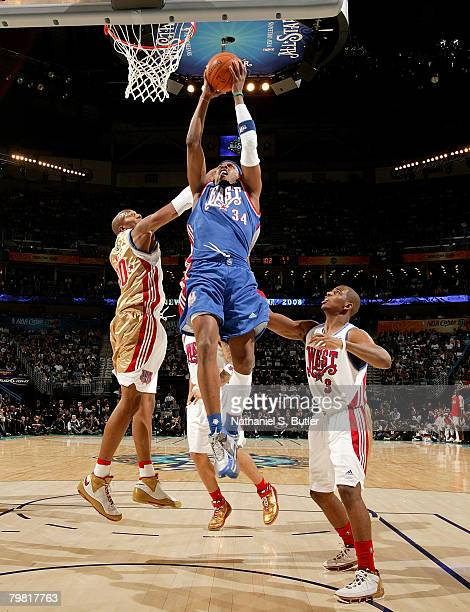 Paul Pierce of the Eastern Conference during the 2008 NBA AllStar Game part of 2008 NBA AllStar Weekend at the New Orleans Arena on February 17 2008...