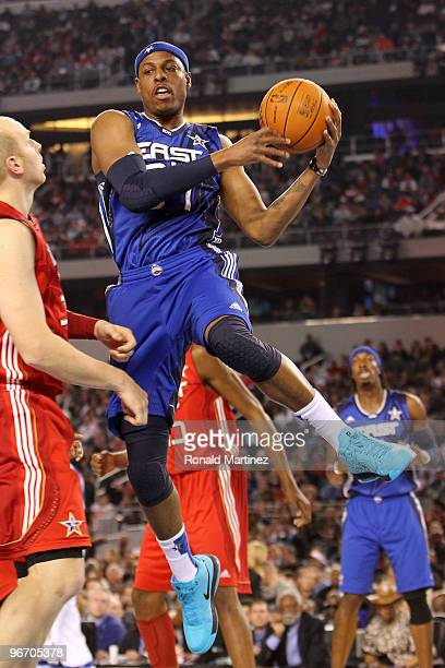 Paul Pierce of the Eastern Conference goes up for a shot against the Western Conference during the fourth quarter of the NBA AllStar Game part of...