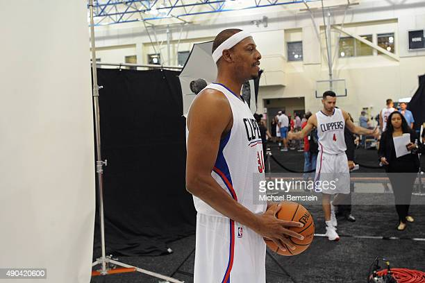 Paul Pierce of the Los Angeles Clippers poses for a portrait during media day at the Los Angeles Clippers Training Center on September 25 2015 in...