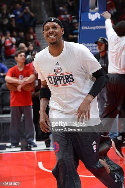 Paul Pierce of the Los Angeles Clippers warms up before the game against the Houston Rockets on November 7 2015 at STAPLES Center in Los Angeles...