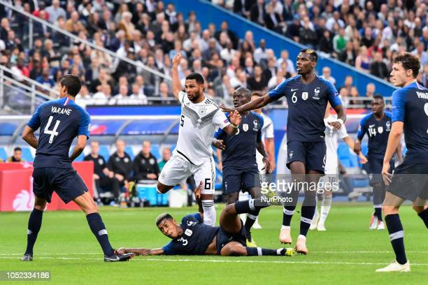 Paul Pogba during the Nation League match between France and Germany at France's stadium on October 16 2018 in Paris France