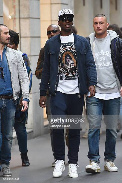 Paul Pogba is seen on April 12 2014 in Milan Italy