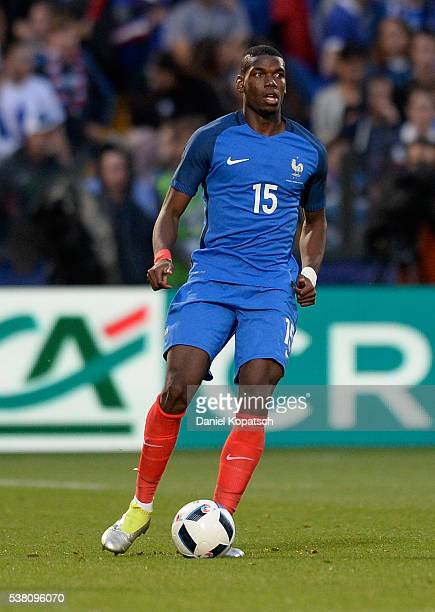 Paul Pogba of France controls the ball during the International Friendly between France and Scotland on June 4 2016 in Metz France