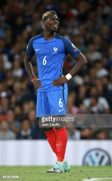 Paul Pogba of France during the FIFA 2018 World Cup Qualifier between France and Luxembourg at the Stadium on September 3 2017 in Toulouse France