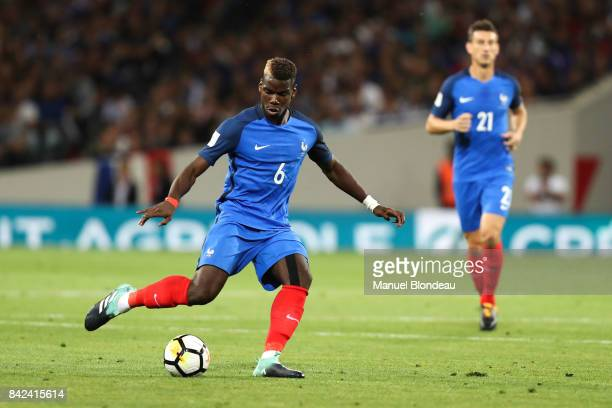 Paul Pogba of France during the Fifa 2018 World Cup qualifying match between France and Luxembourg at on September 3 2017 in Toulouse France