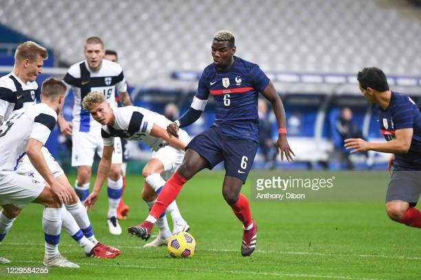 Paul POGBA of France during the international friendly match between France and Finland at Stade de France on November 11, 2020 in Paris, France.