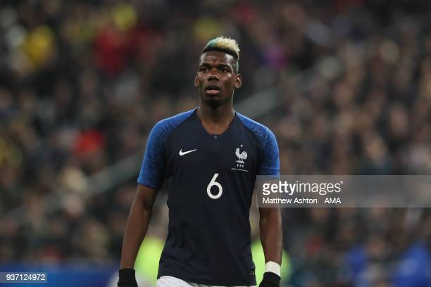 Paul Pogba of France during the International Friendly match between France and Colombia at Stade de France on March 23 2018 in Paris France