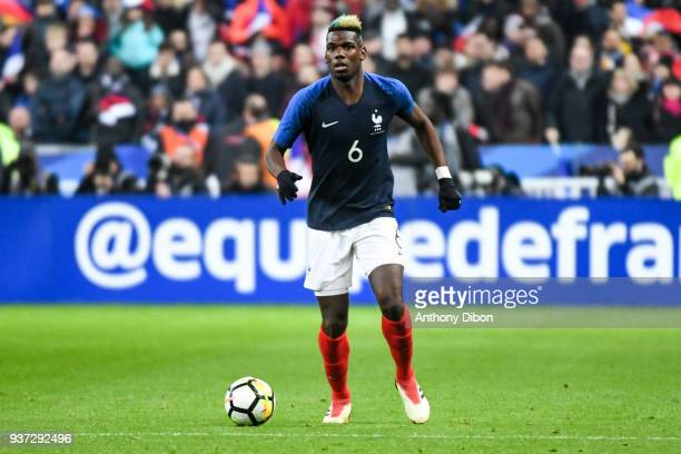 Paul Pogba of France during the International friendly match between France and Colombia on March 23 2018 in Paris France