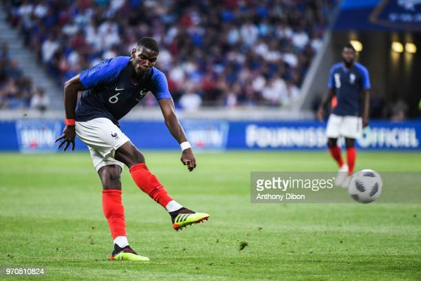 Paul Pogba of France during the International Friendly match between France and United States at Groupama Stadium on June 9 2018 in Lyon France