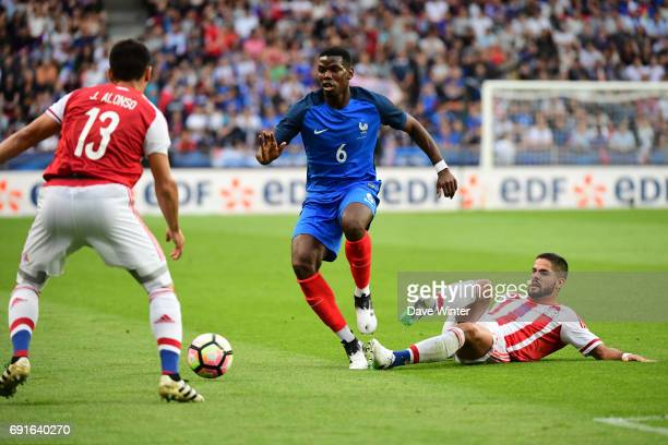 Paul Pogba of France during the soccer friendly match between France and Paraguay at Roazhon Park on June 2 2017 in Rennes France