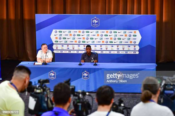Paul Pogba of France during the training and Press Conference France on July 12 2018 in Moscow Russia