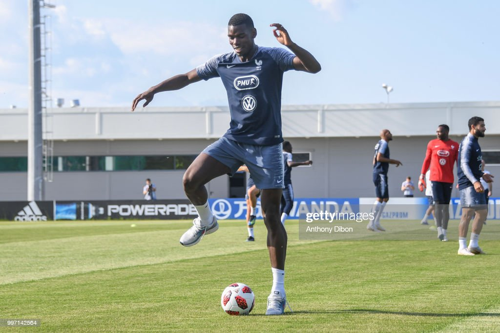 Paul Pogba of France during the training France on July 12, 2018 in Moscow, Russia.