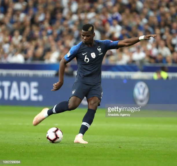 Paul Pogba of France in action against during the UEFA Nations League A Group 1 match between France and Germany at Stade de France in SaintDenis...