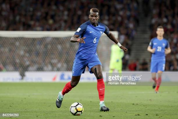 Paul Pogba of France in action during the FIFA 2018 World Cup Qualifier between France and Luxembourg at on September 3 2017 in Toulouse France