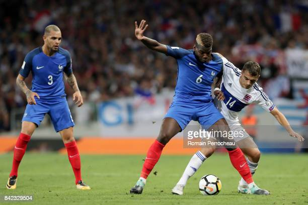 Paul Pogba of France in action during the FIFA 2018 World Cup Qualifier between France and Luxembourg at Stadium on September 3 2017 in Toulouse...