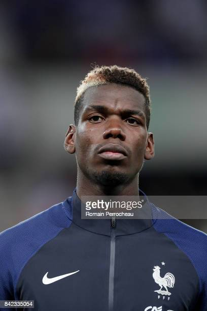 Paul Pogba of France looks on beofre the FIFA 2018 World Cup Qualifier between France and Luxembourg at Stadium on September 3 2017 in Toulouse France