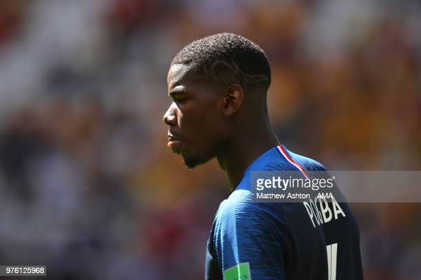 Paul Pogba of France looks on during the 2018 FIFA World Cup Russia group C match between France and Australia at Kazan Arena on June 16 2018 in...