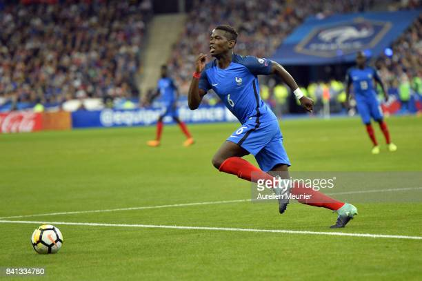 Paul Pogba of France runs with ball during the FIFA 2018 World Cup Qualifier between France and The Netherlands at Stade de France on August 31 2017...
