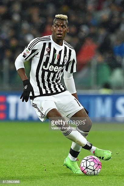 Paul Pogba of Juventus FC in action during the Serie A match between Juventus FC and FC Internazionale Milano at Juventus Arena on February 28 2016...