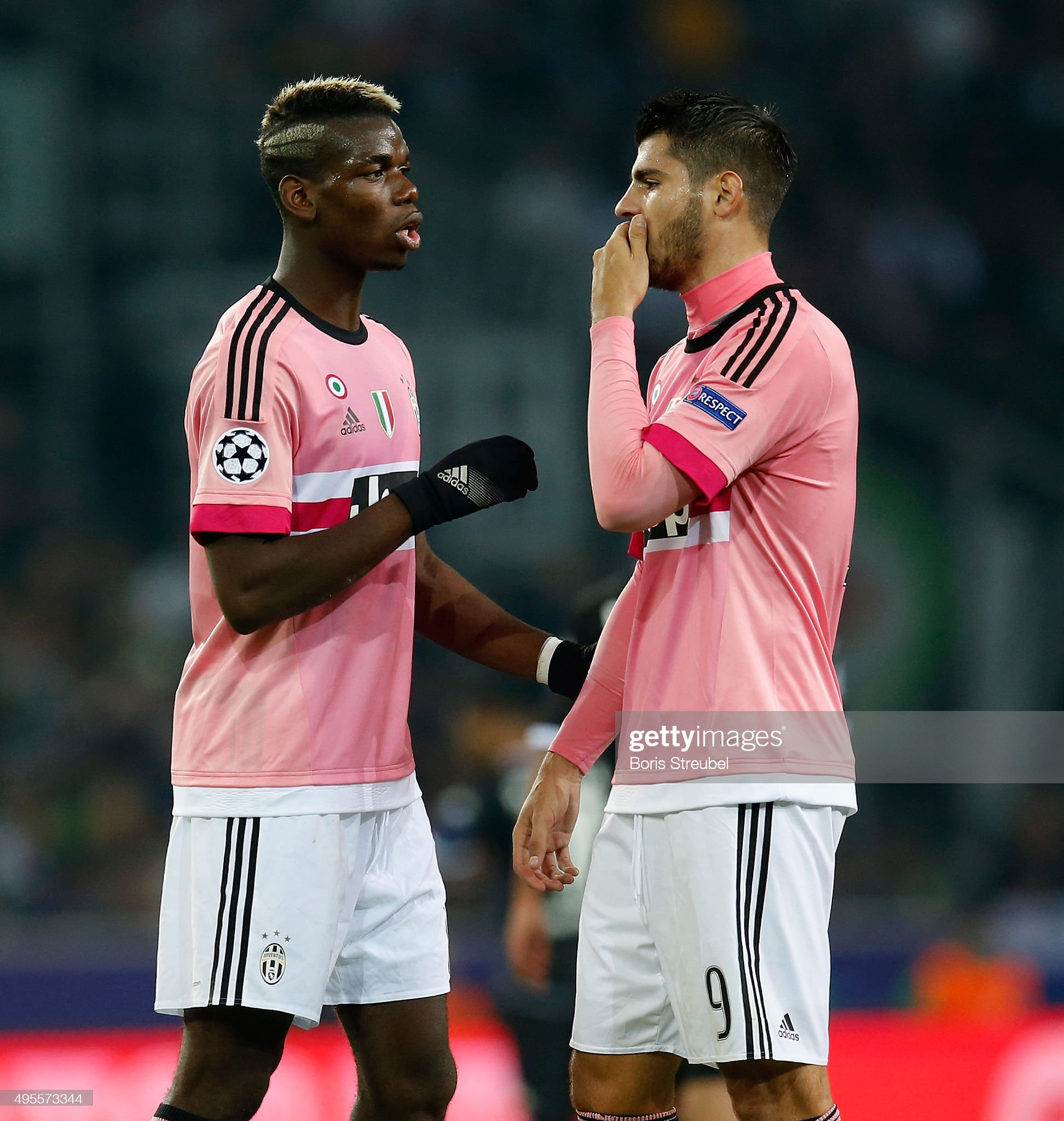 ¿Cuánto mide Álvaro Morata? - Altura - Real height Paul-pogba-of-juventus-reacts-with-alvaro-morata-during-the-uefa-d-picture-id495573344?s=2048x2048