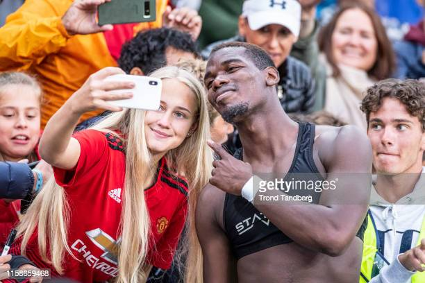 Paul Pogba of Manchester United after during the Pre-Season Friendly match between Kristiansund BK v Manchester United at Ullevaal Stadion on July...