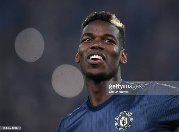 Paul Pogba of Manchester United before the UEFA Champions League Group H match between Juventus and Manchester United at Allianz Stadium on November...
