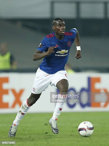 Paul Pogba of Manchester United during the Europa League group A match between Feyenoord and Manchester Uinited on September 15 2016 at the Kuip...